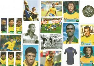 Figurinhas do álbum Brasil de Todas as Copas 2013