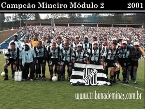 Tupi 26 de Agosto de 2001 - TUPI 3 x 1 América de Alfenas TUPI FC - CAMPEÃO Mineiro do Módulo II