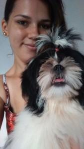 cachorro Flor e a irmã Nina 1