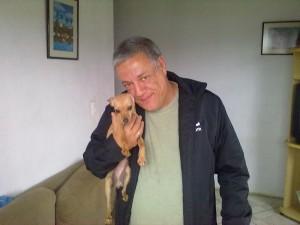 cachorro Yasmin quando chegou em 2012