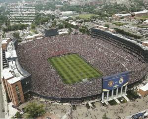 estadios Michigan Stadium. Real Madrid x Manchester - 109 mil pagantes (foto 2014- Revista Placar)