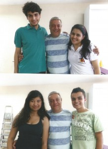 ex alunos Mathues, Larissa, Yan e Adriele.