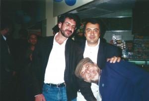 ex alunos Xico Teixeira, José Santos e Carlos Alberto Pavan