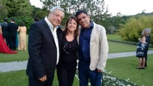 familia Eu Flávio com a Ria, ex-aluna, no casamento do Leo. (2015)