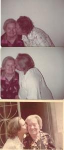 pessoais Beijos das filhas em Vovó Irene