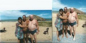 pessoais Eu, minha irmã Márcia e meu cunhado Humberto