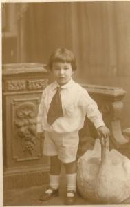 pessoais Meu pai quando criança, foto de novembro de 1923