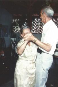 pessoais Tia Mires dançando com meu pai