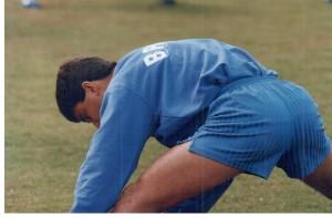 seleção Teresópolis, 1993. Bebeto treinando. Eu estava lá