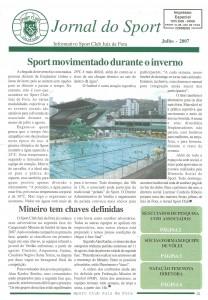 sport edição de Julho de 2007 do Jornal do Sport